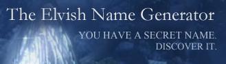 Générateur de nom elfique