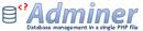 Adminer: gestion de votre base SQL