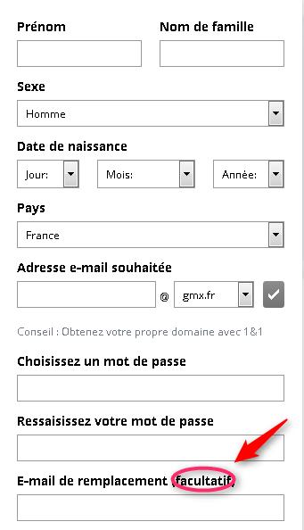 gmx  cr u00e9er une adresse email sans autre email ou num u00e9ro de
