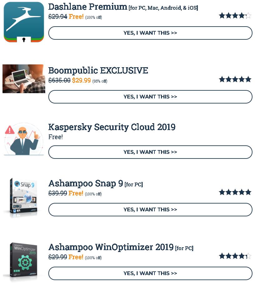 SharewareOnSale: des logiciels avec licence offerte